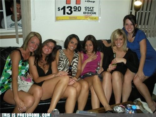 girls,group,Party,photobomb,want,wtf