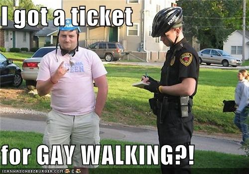 gay,law,pink,police,policeman,rock and roll,ticket