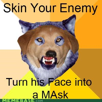 advice dog Courage Wolf enemy mask skin - 4342811648