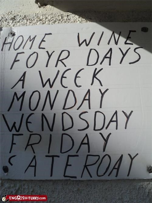 engrish,sign,week