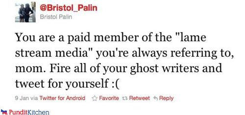 bristol palin conservative fake liberal Media Sarah Palin tweet twitter - 4342836224