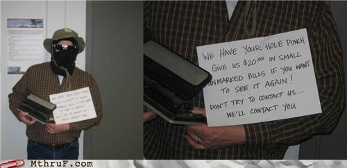 hole punch money ransom - 4342908928