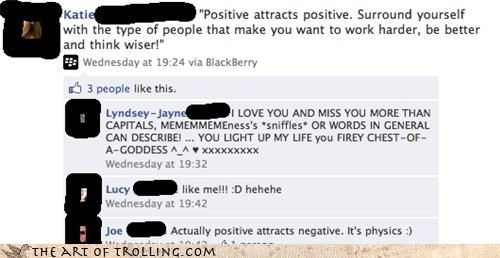 attractive,facebook,negatives,positive