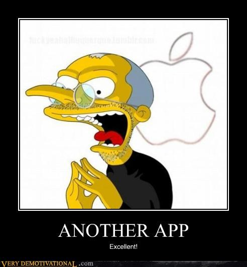 apple apps cartoons mac Montgomery Burns simpsons steve jobs theres-an-app-for-that - 4343113472