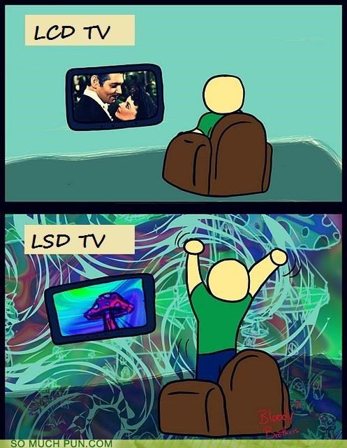 acronyms,demonstration,lcd,lsd,pcp,television,trip,TV