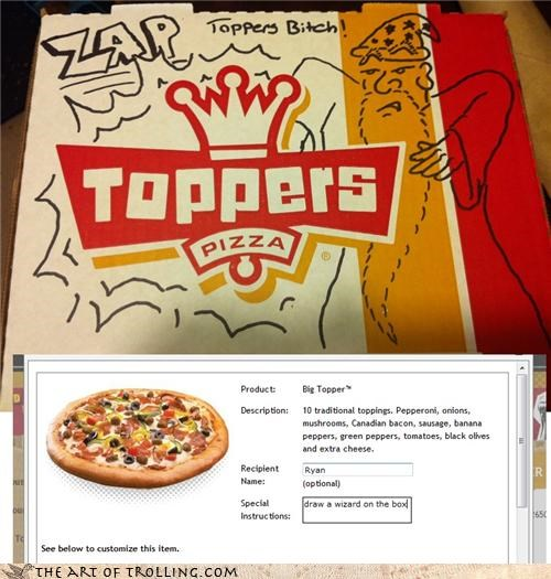 instructions,IRL,pizza,toppers,win,wizard