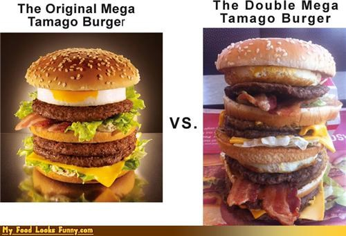 burger double huge insane Japan recreate tamago