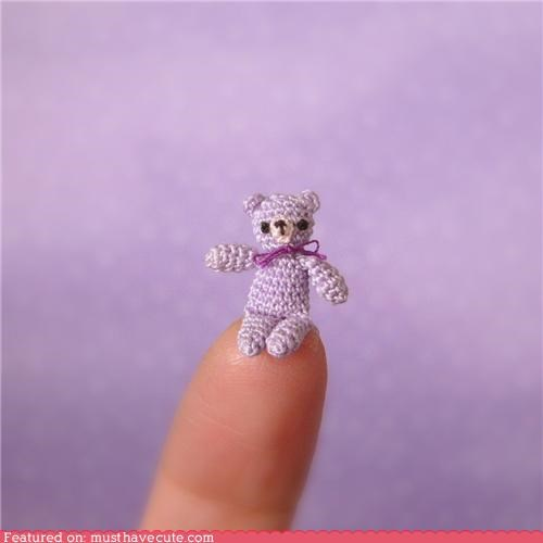 bear crochet micro mini teddy bear tiny - 4343519488