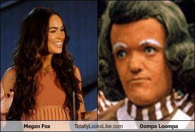 actress,megan fox,oompa loompa,orange,Willie Wonka