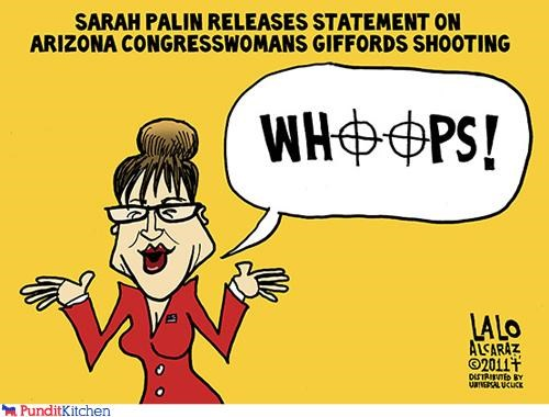 cartoons gabrielle giffords guns Sarah Palin violence - 4343567360