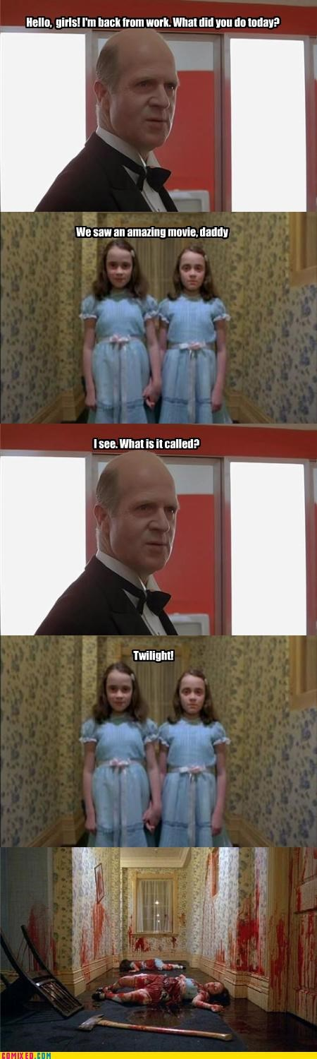 Blood,children,From the Movies,i am disappoint,kids,movies,the shining,twilight