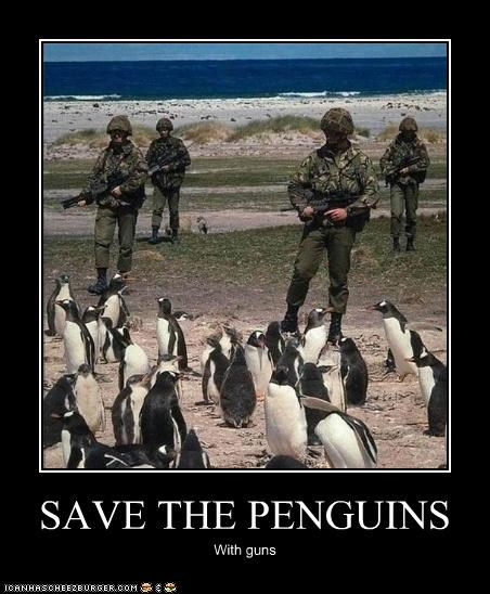 SAVE THE PENGUINS With guns