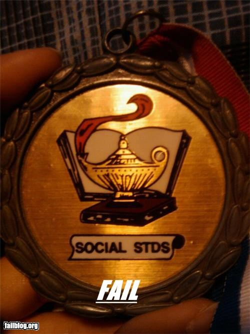 abbreviations,Awards,failboat,g rated,innuendo,medals,STDs