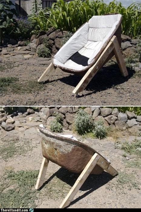 clever DIY wheel barrow