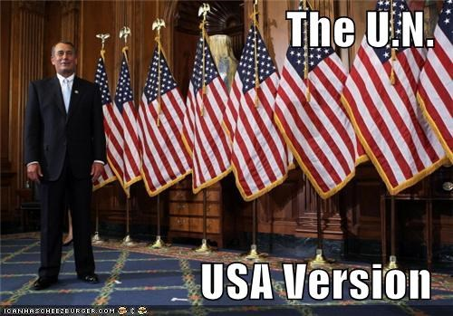 American Flag flags john boehner selfish speaker of the house un usa - 4344559872