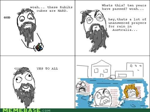 answered australia comics flood god Memes prayers rubiks cube - 4345948928