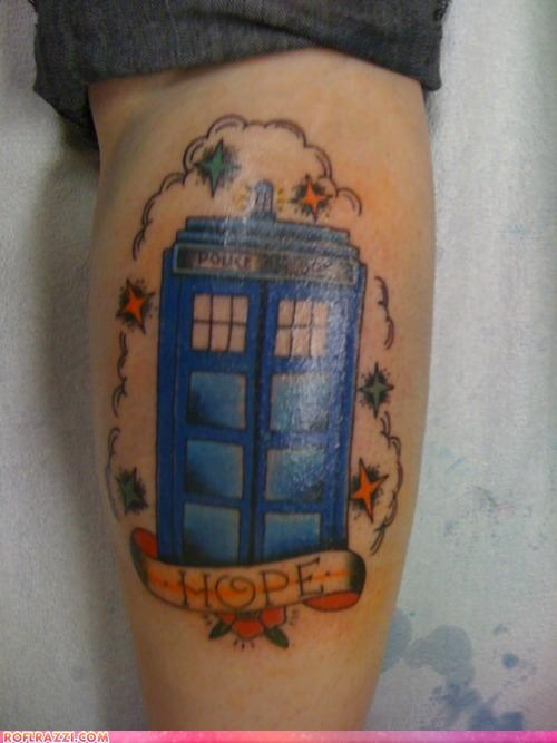 art doctor who sci fi tardis tattoo - 4346004480