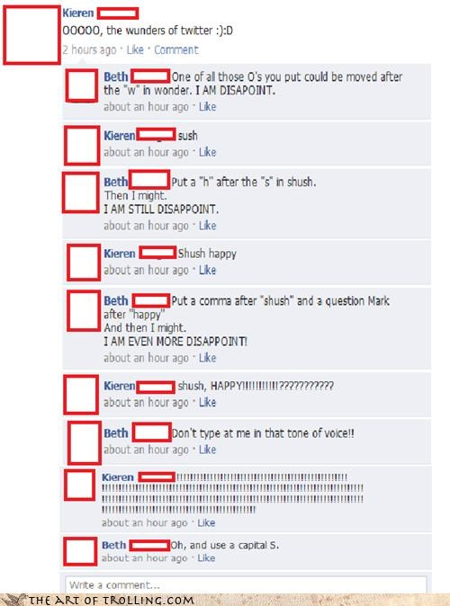 facebook happy punctuation shush spelling - 4346099712