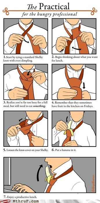 awesome banana lunch practical tie