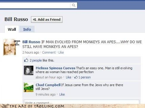evolution facebook jesus jews wwjd