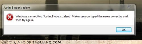 error justin bieber talent windows - 4346589696