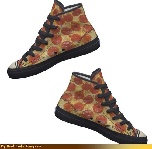clothing,pepperoni,pizza,pizza shoes,shoes,toppings