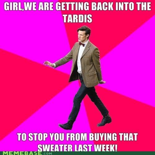 fashion advice Memes sweater talk to the bowtie tardis - 4347325952