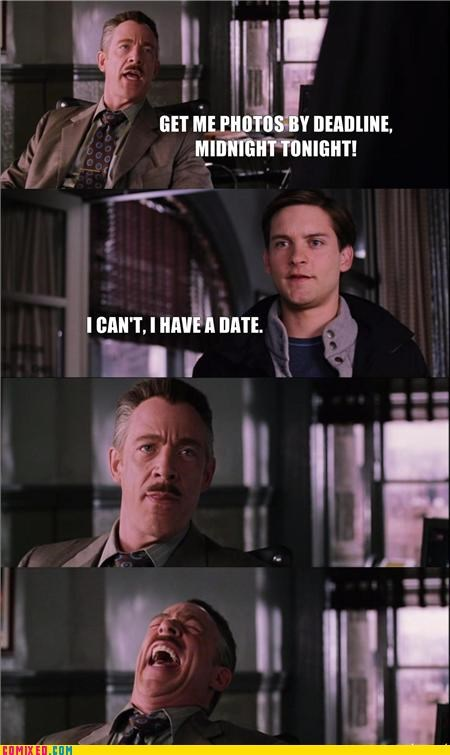 bosses,forever alone,From the Movies,peter parker,sad but true,Spider-Man