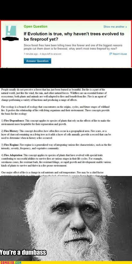 Darwin,history,smart ass,trolling,yahoo answers