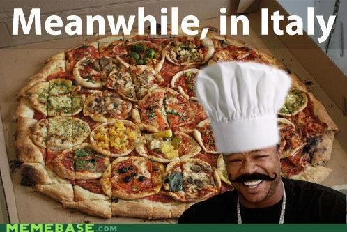 Italy,mini pizza,moustache,pizza,yo dawg