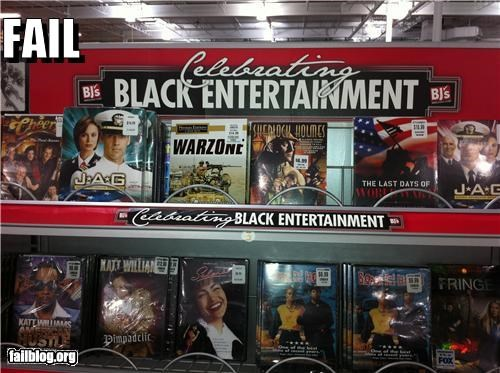 Black Entertainment Display