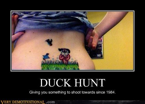 dogs double entendre duck hunt hunting tattoos that damned dog Videogames - 4348872448