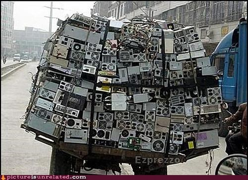 awesome cart computers OverKill 9000 trash wtf - 4349581056