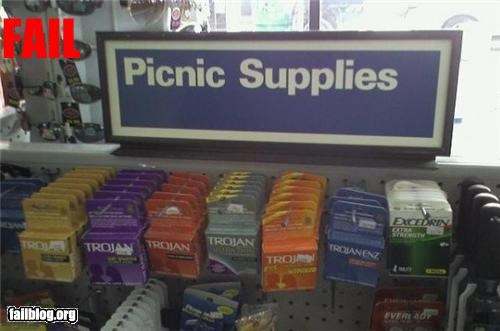 condoms,failboat,picnic,shopping,signs,supplies