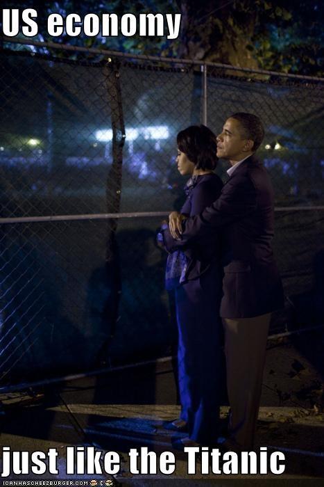 barack obama economy FAIL Michelle Obama movie reference sinking titanic united states - 4349660672