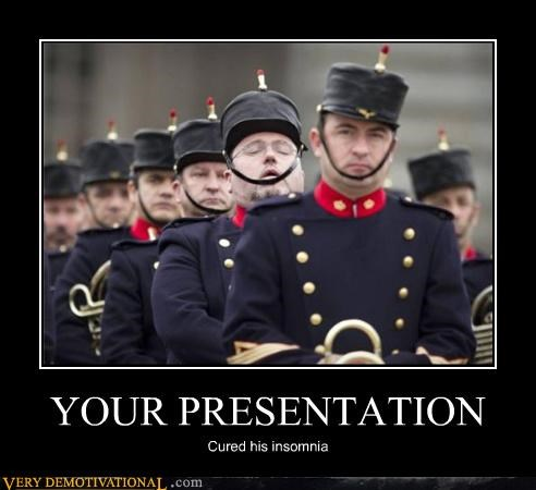 YOUR PRESENTATION Cured his insomnia