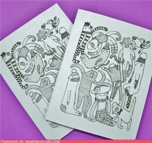 card drawing sock monkeys stationary toys - 4349824256
