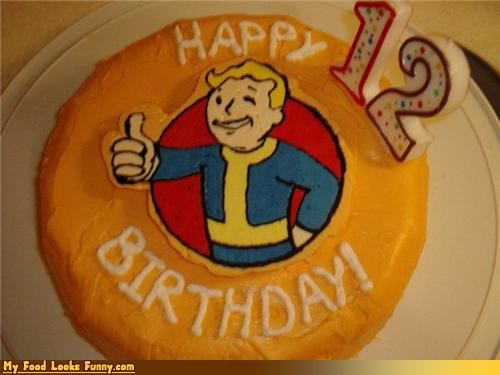 birthday,birthday cake,cake,fallout,games,Sweet Treats,vault boy,video games