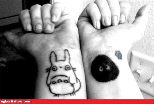 totoro,wrists,tattoos