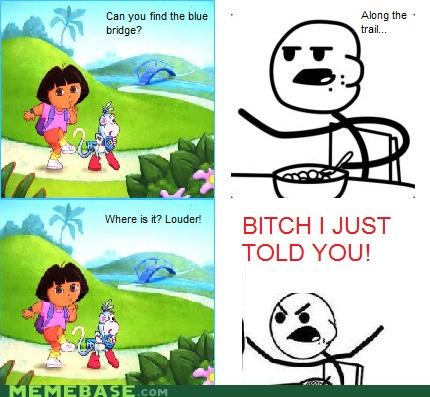 cereal guy,dora the explorer,Memes