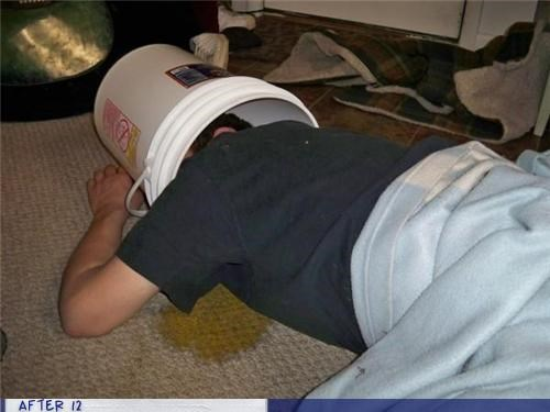 bucket passed out puke vomit - 4350976768