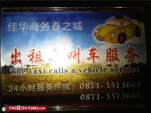 engrish,sign,taxi