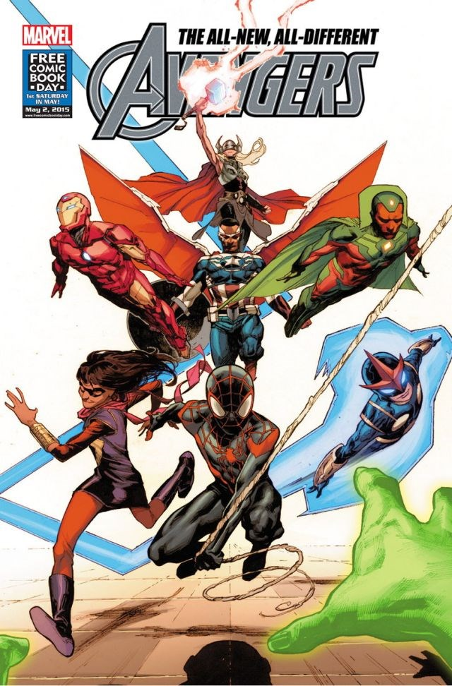 lineup,diversity,free comic book day,all new,comic book,avengers