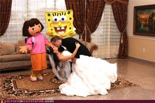 costume,dora,SpongeBob SquarePants,wedding,wtf