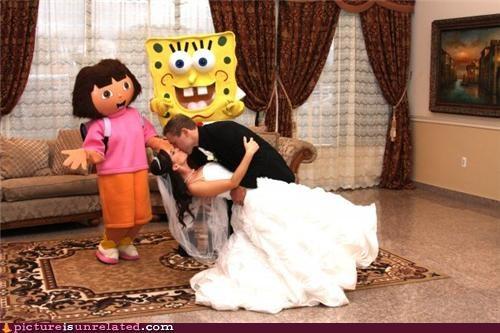 costume dora SpongeBob SquarePants wedding wtf - 4352495616