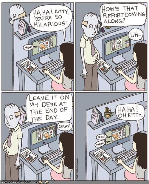 comic internet report slacker work workplace - 4352543232