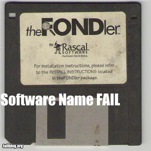 computer disks failboat fondling innuendo software technology titles - 4352603648