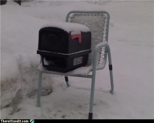 mailbox snow winter - 4352822528