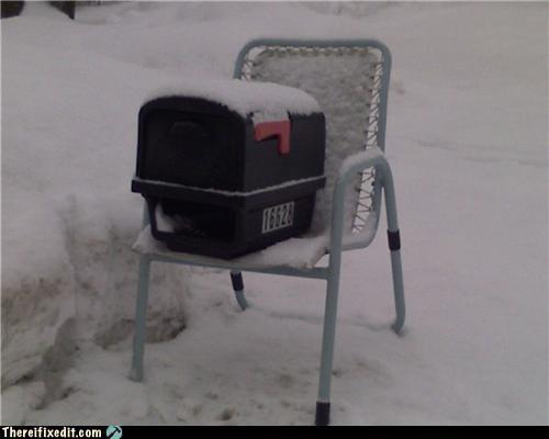 mailbox snow winter - 4352822528