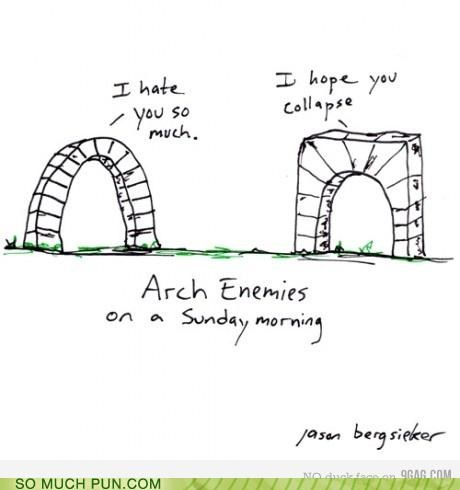 arch enemies fighting insult insults literalism - 4352856832